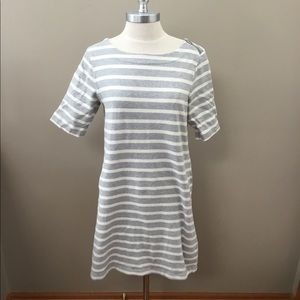 Gap Gray/Cream Striped Dress
